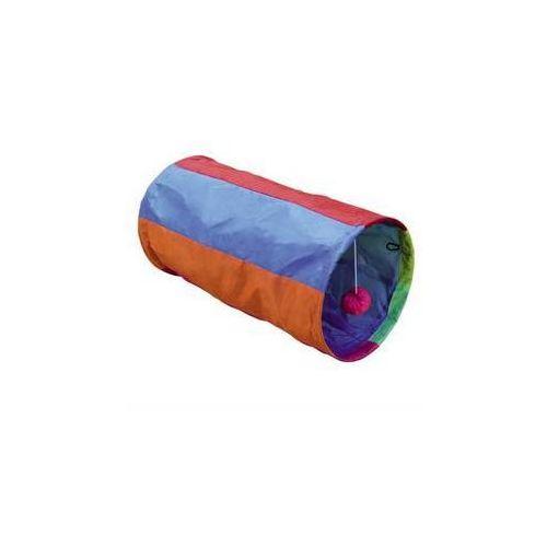Nobby Zabawka dla zwierząt kolorowy tunel 25x50cm purpurowa/pomarańczowa