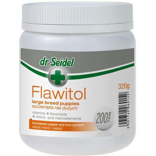 Tabletki Flawitol witaminy dla szczeniąt ras dużych 200 tabletek