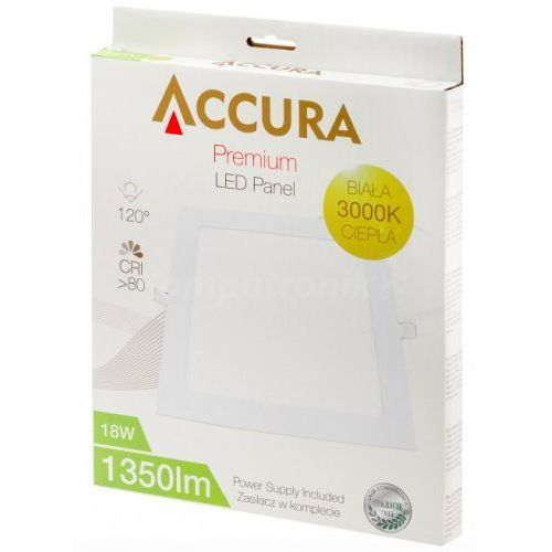 Accura square panel 18W - produkt z kategorii- Żarówki LED