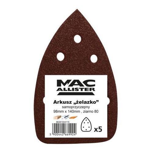 Papier żelazko MacAllister 98 x 140 mm A21 P80 5 szt., 66261044115
