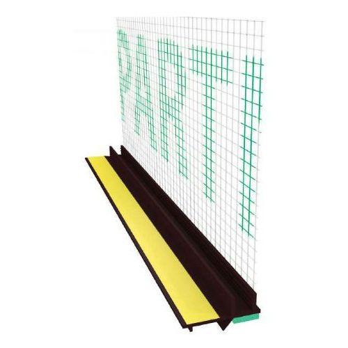 Emaga Profil przyokienny dylatacyjny w kolorze brąz z uszczelką i siatką (146g/m2) b=6mm l=2,5m 25szt