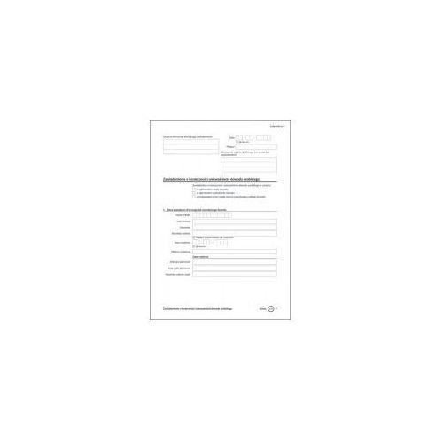 Zawiadomienie o konieczności unieważnienia dowodu osobistego [zał nr 9] marki Firma krajewski