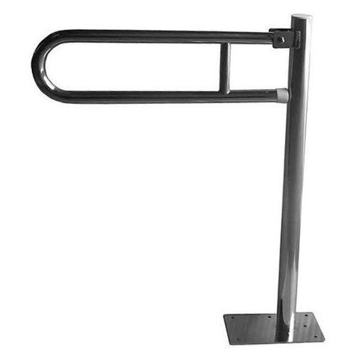 Faneco Poręcz dla niepełnosprawnych stojąca uchylna ⌀ 25 600 mm stal szlachetna połysk