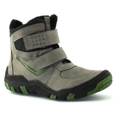 Buty zimowe dla dzieci 06236 - zielony ||szary marki Kornecki