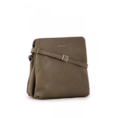 Skórzana torebka w oliwkowym kolorze - marki Franco bellucci