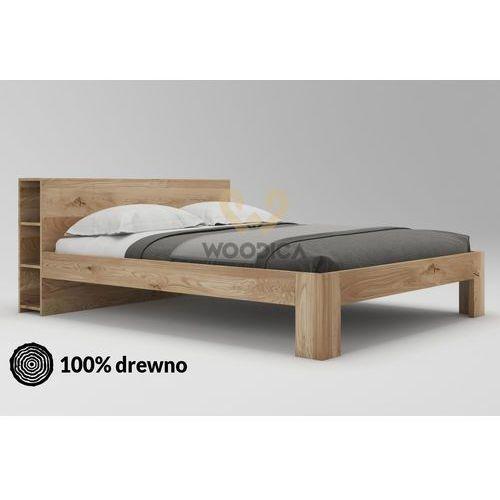 Łóżko dębowe vernalis 03 120x200 marki Woodica
