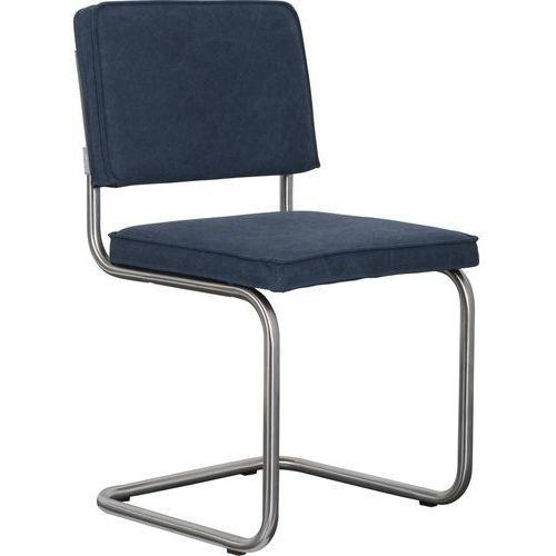 Zuiver krzesło ridge brushed vintage niebieskie 1100114