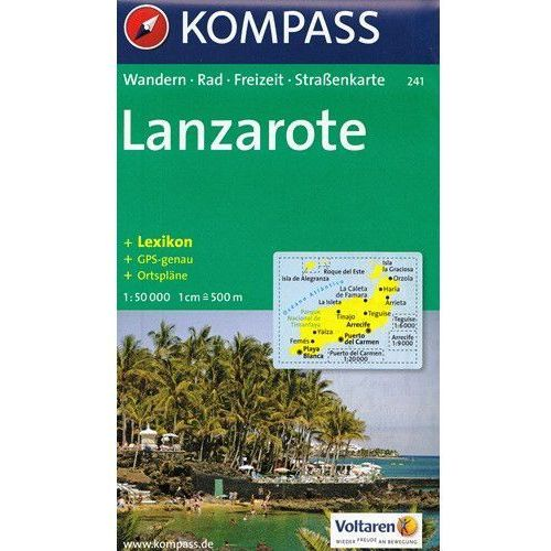 Lanzarote mapa 1: 50 000 Kompass