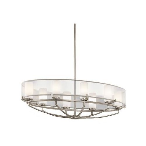 SALDANA KL/SALDANA8 LAMPA WISZĄCA ELSTEAD KICHLER, kolor srebrny