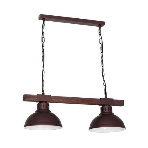 Lampa wisząca HAKON 2xE27/60W/230V brązowa, 9053