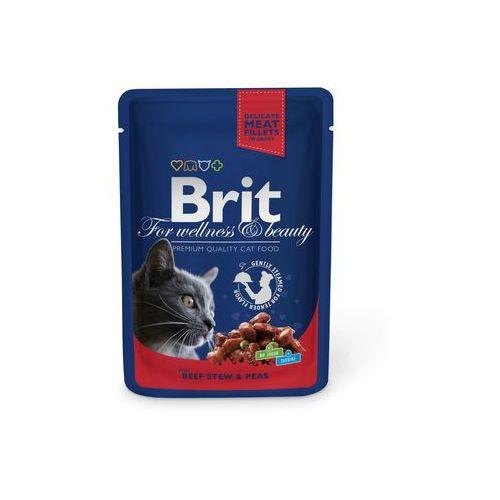 BRIT cat saszetka ADULT 100g - BEEF stew/peans