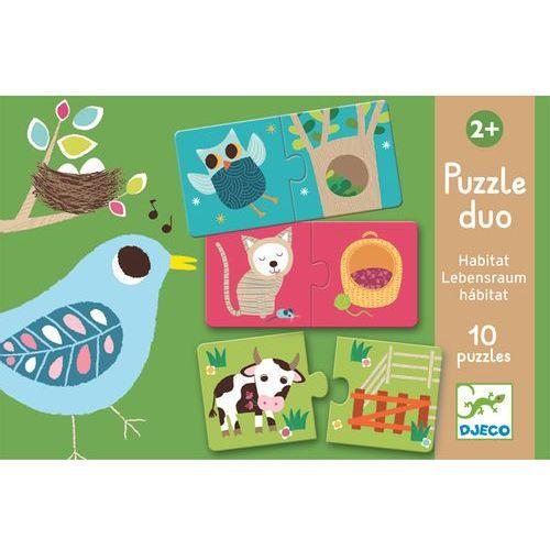 Djeco Puzzle duo dla najmłodszych - zwierzątka i ich domy dj08164