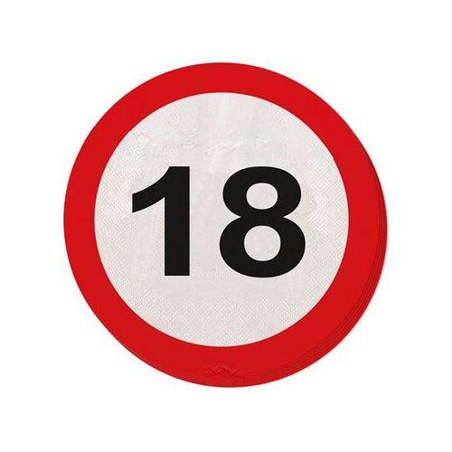 Serwetki Znak zakazu 18tka - 33 cm - 20 szt. (8714572283182)