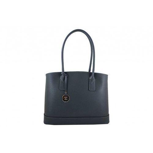 Klasyczne torebki na ramię skórzane - Barberini's - Szary
