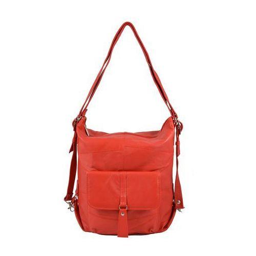 Shopper bag 2w1 czerwony marki Milskór