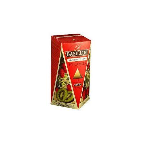 Herbata magic fruits truskawka i kiwi 15 x 2g w piramidkach marki Basilur