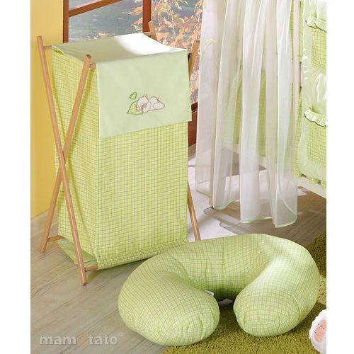 MAMO-TATO Kosz na bieliznę Śpiący miś w zieleni