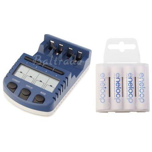 Ładowarka bc-1000 (następca bc-900) + 4 x r6/aa eneloop r6 aa 2000mah bk-3mcce/4t (box) marki Technoline