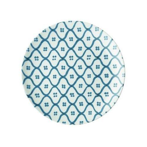 - tiffany - talerz deserowy le maioliche, niebieski marki Guzzini