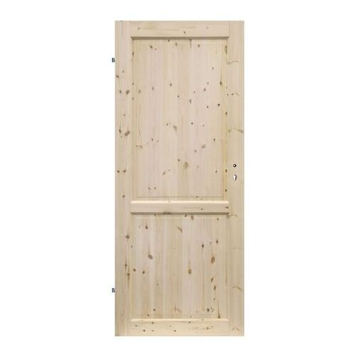 Radex Drzwi pełne lugano 90 lewe sosna surowa (5907592243448)