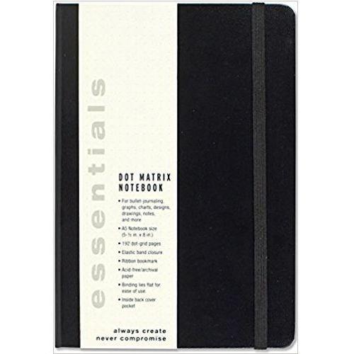 Peter pauper press Notatnik ess duży czarny kropki (9781441323712)