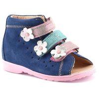 Buty profilaktyczne dla dzieci 1041 - pudrowy róż ||granatowy marki Dawid