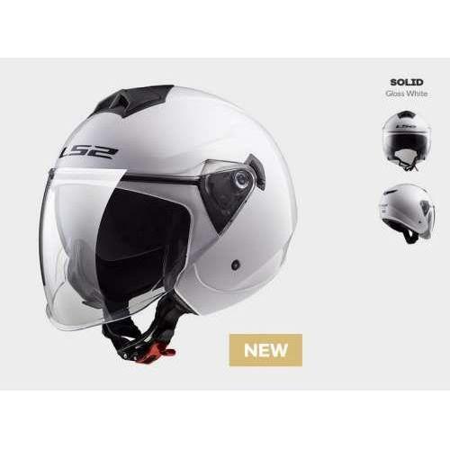 Kask MOTO LS2 F573 TWISTER SOLID WHITE - BLENDA!