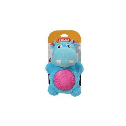 Hipopotam z dźwiękiem - pluszowo - gumowa zabawka dla psa  - 22 cm marki Zolux