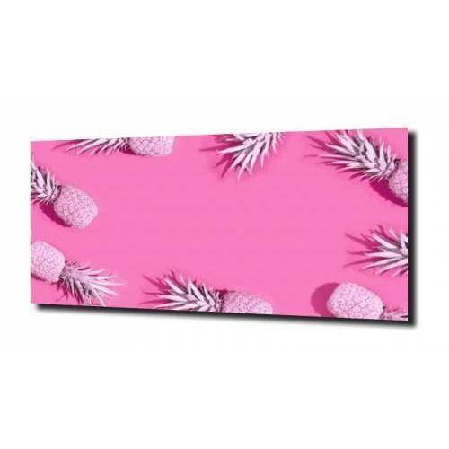 obraz na szkle, panel szklany Ananas róż 120X60