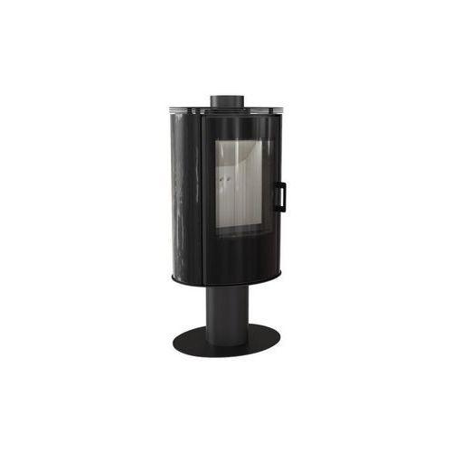 Piec kaflowy KOZA AB S/N/O/DR GLASS kafel czarny + dodatkowy rabat przy zamówieniu + gratis, KOZA AB S/N/O/DR GLASS kafel czarny