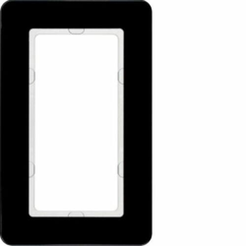 Hager polo sp. z o.o. Knx q.7 ramka z dużym wycięciem szkło czarne 13096076 (4011334450023)