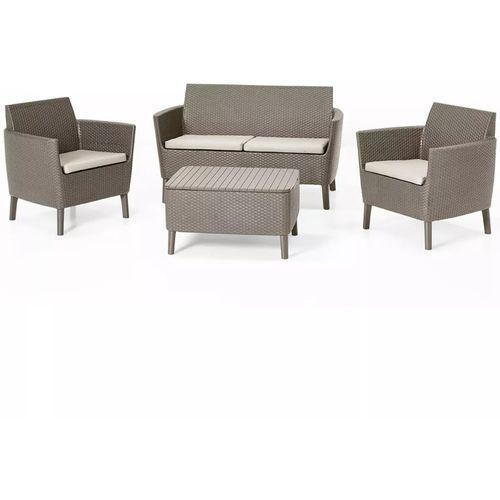 Zestaw balkonowy Salemo 2 Seater Set cappuccino - Transport GRATIS! (8711245145402)