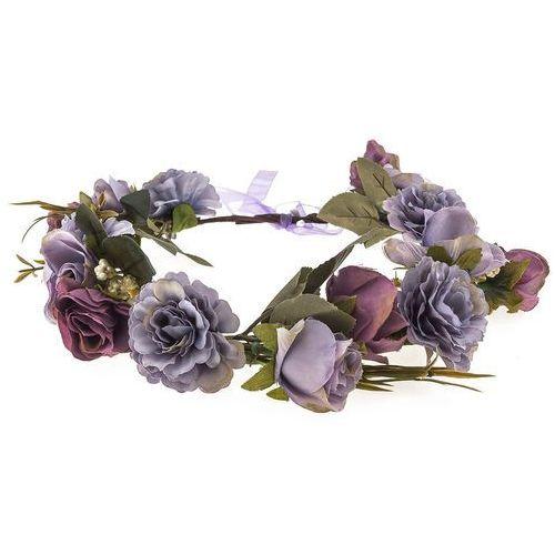 Wianek róże peonie fiolet lila - fiolet lila marki Iloko