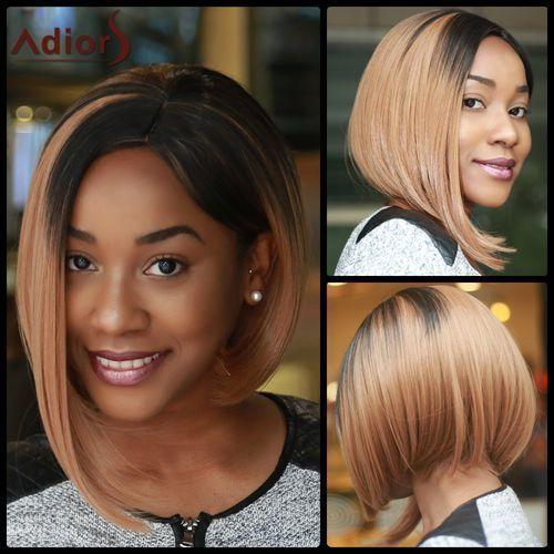 Medium Straight Side Parting Capless Brown Mixed Synthetic Wig, kup u jednego z partnerów