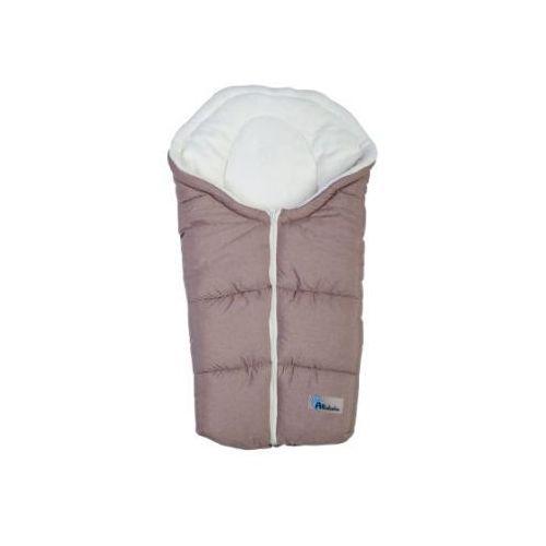 Alta bebe Altabebe śpiworek zimowy alpin do fotelika gr. 0+ kolor jasnobrązowy/whitewash (4897015977658)
