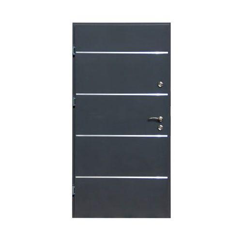 Drzwi zewnętrzne stalowe Elbrouz 90 lewe antracyt, Z33330