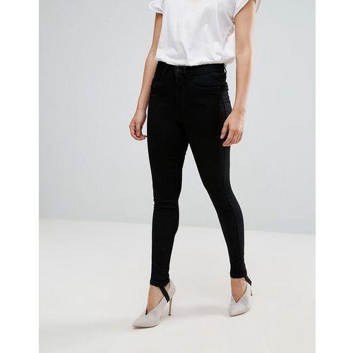 Only Denim Skinny Jeans With Stirrup - Black, skinny