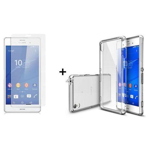 Zestaw Rearth | Obudowa | Etui Ringke Fusion Case + szkło ochronne | Sony Xperia Z3 | kolor Crystal View