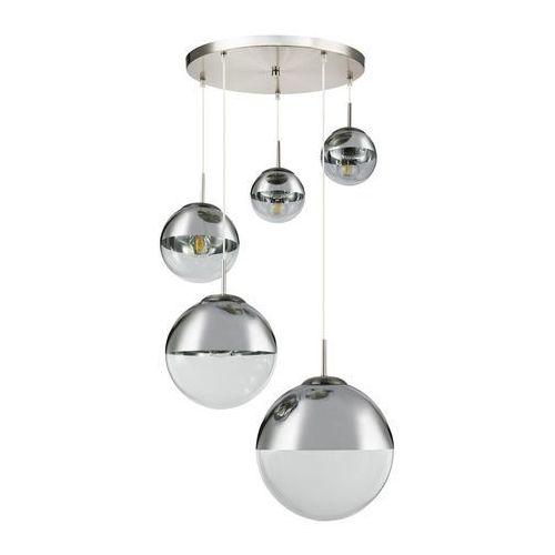 Lampa wisząca Globo Varus 15851-5 lampa sufitowa zwis 3x40W + 2x25W E27 nikiel mat / chrom, 15851-5