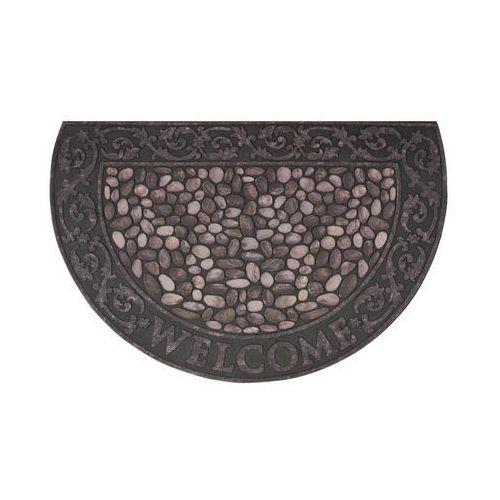 Wycieraczka zewnętrzna RIVERSTONE 89 x 58.5 cm gumowa brązowa INSPIRE (3276005466173)