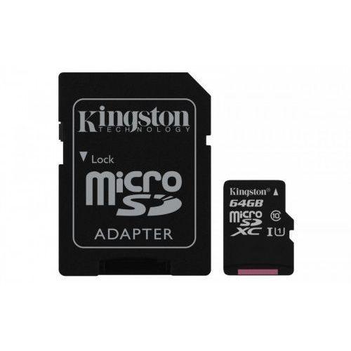 Karta pamięci Kingston microSDXC Canvas Select 64GB UHS-I Class 10 + adapter, 1_625060