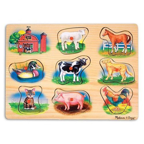 Drewniana układanka z dźwiękiem- farma- melissa&doug marki Melissa & doug