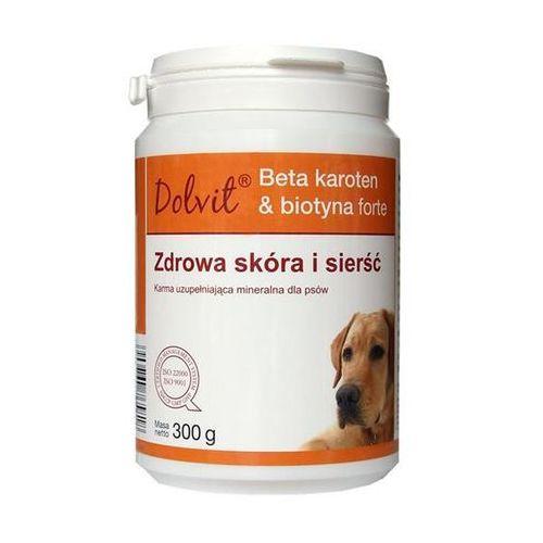 DOLFOS Dolvit Beta karoten & biotyna forte - preparat dla psów poprawiający kondycję skóry i sierśc 300g - 300g