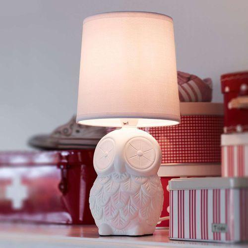 Helge 105310 lampa stołowa biała sowa Markslojd, 105310