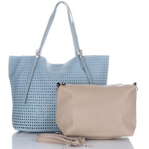 David jones Ażurowe torebki damskie firmy uniwersalne i na co dzień niebieskie