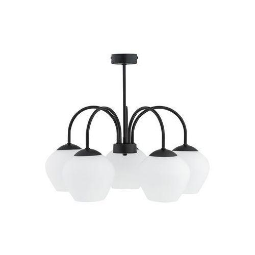Lemir molto o2785 w5 cza plafon lampa sufitowa żyrandol 5x60w e27 czarny mat (5902082868750)