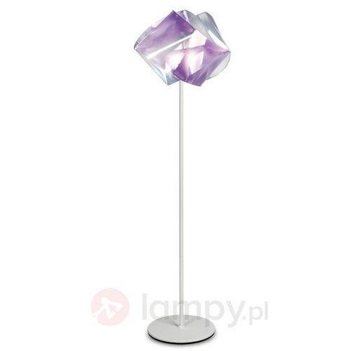 GEMMY PRISMA - Lampa podłogowa Ametyst/Noga Biała Wys.170cm, GEM04PST0000LCP
