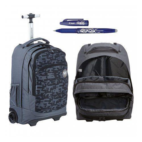 chiemsee ss16 plecak na kółkach wheely: l0362 typo black + długopis frixion gratis marki Hama