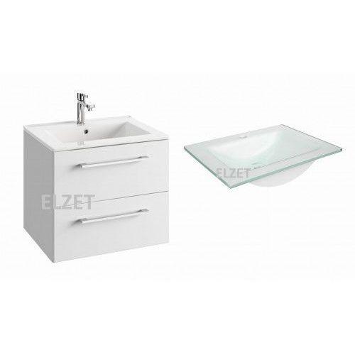 DEFRA szafka Trento D60 biały połysk + umywalka Puro 60 124-D-06010+3072, kolor biały