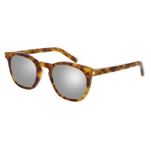 Okulary słoneczne sl 28/f asian fit 016 marki Saint laurent